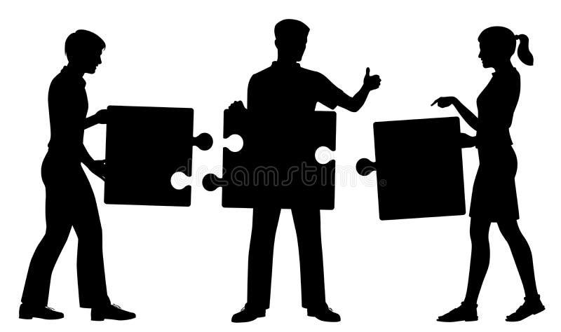 Figursågfolkkontur vektor illustrationer