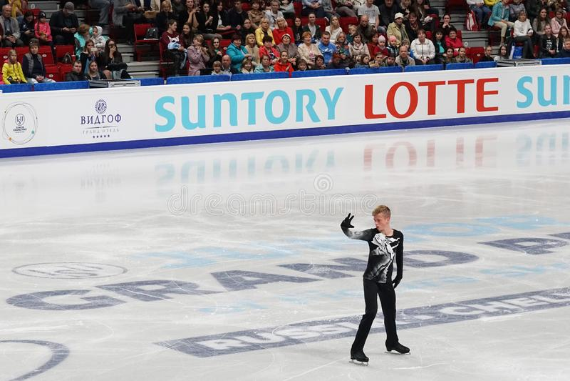 figuur skater deelnemer Ilya Lavrov Russische Federatie, Rusland stock foto
