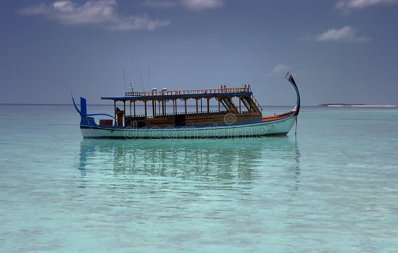 Fiishing boat, Maldives royalty free stock photos