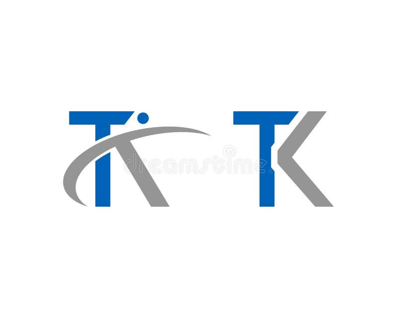 Fijado de la letra Logo Design Template Vector del TK libre illustration