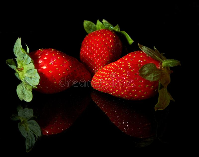 Fijado de las fresas imágenes de archivo libres de regalías