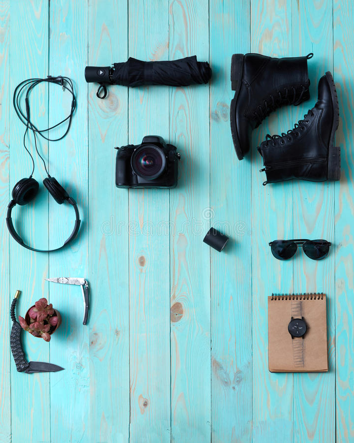 Fije, collage del ` s, accesorios de los hombres del ` s de las mujeres imágenes de archivo libres de regalías