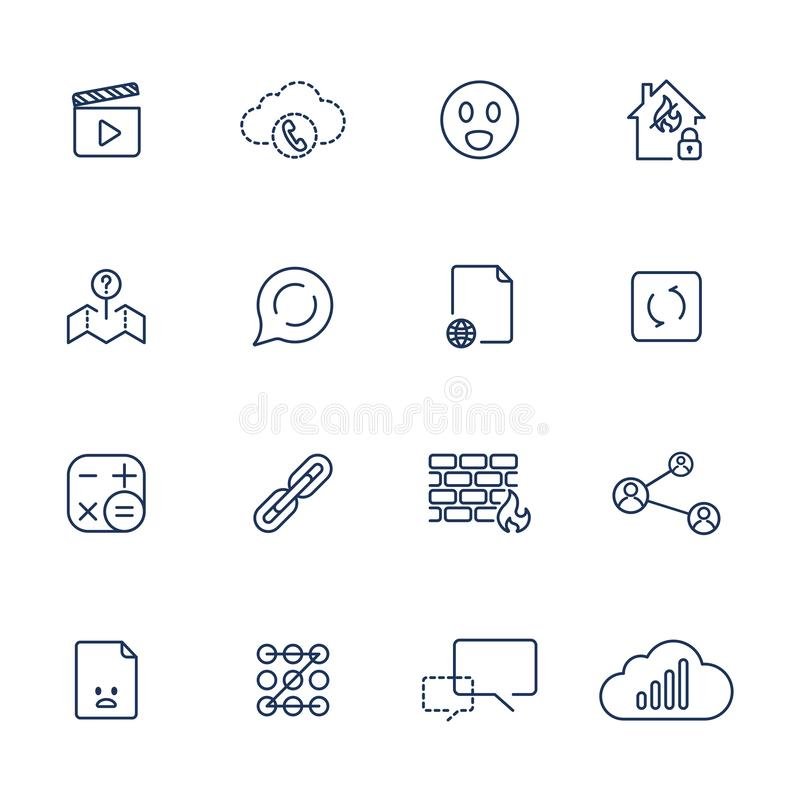 Fije con diversos iconos libre illustration