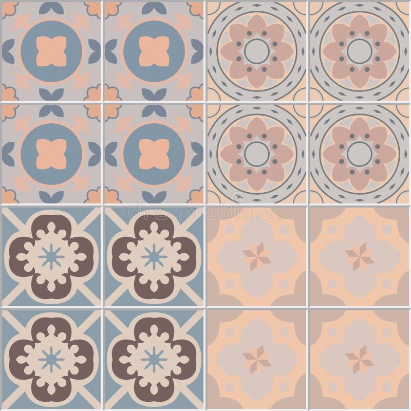 Fije con el ejemplo ornamental inconsútil hermoso del vector del fondo de la teja ilustración del vector