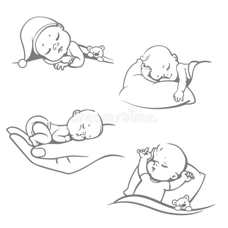 Fije con los bebés durmientes libre illustration