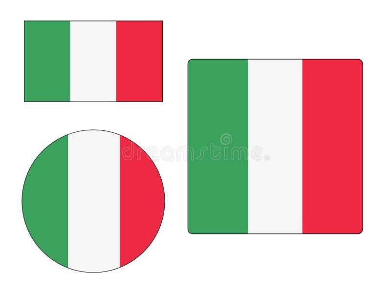 Fije de banderas de Italia libre illustration