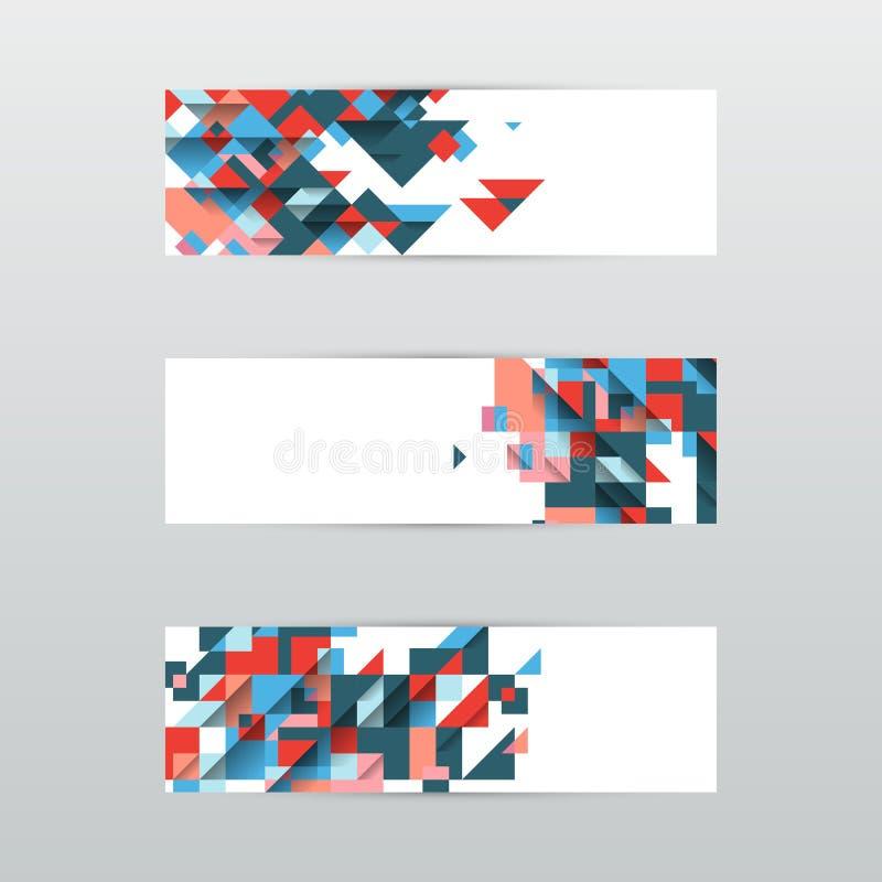 Fije de banderas triangulares abstractas modernas Ilustración del vector ilustración del vector