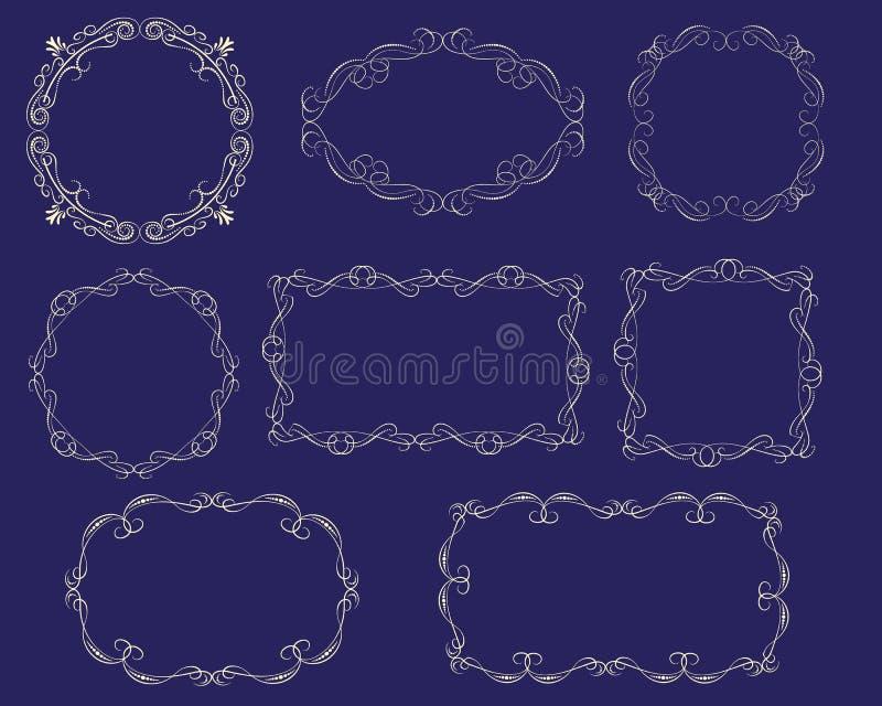 Fije de bastidores florish decorativos ilustración del vector
