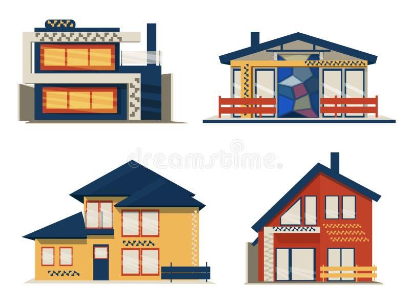 Fije de casa escandinava moderna de la cabaña libre illustration