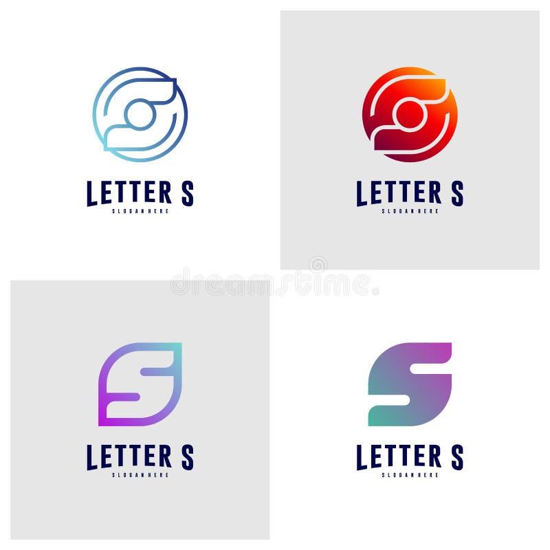 Fije de conceptos de diseño del icono del logotipo de la letra S S inicial Logo Template Vector S?mbolo del icono libre illustration