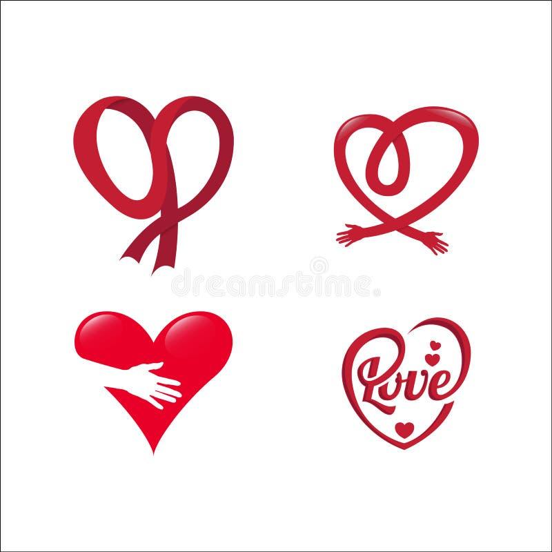 Fije de corazón en día de San Valentín en vector del amor libre illustration