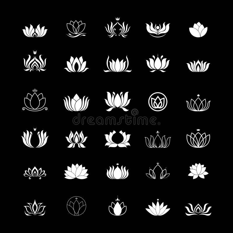 Fije de diseño del logotipo del loto ilustración del vector