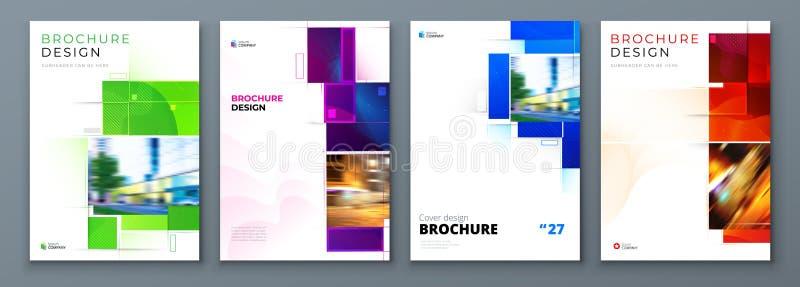 Fije de diseño de la disposición de la plantilla de la cubierta del folleto Informe anual del negocio corporativo, cat?logo, revi ilustración del vector