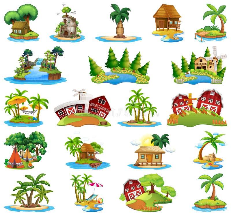 Fije de diversas islas libre illustration