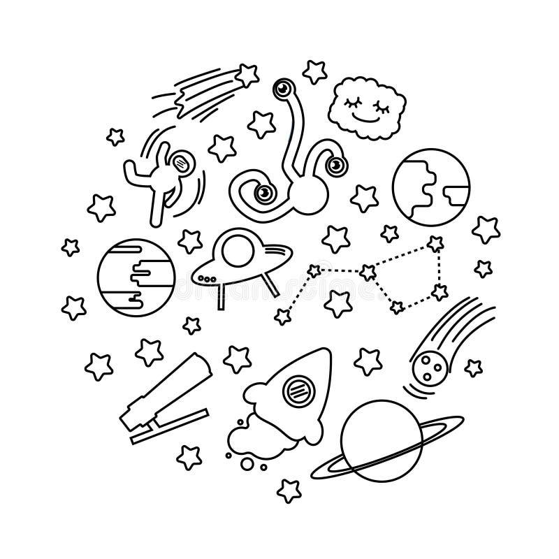 Fije de diverso garabato del espacio libre illustration