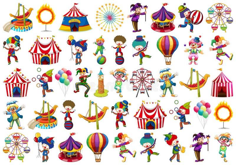 Fije de diversos objetos del circo libre illustration
