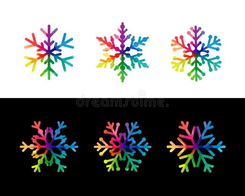 Fije de escamas coloridas de la nieve ilustración del vector