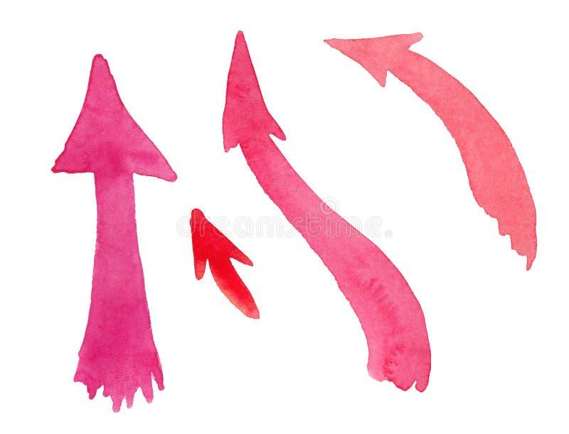 Fije de flechas multicoloras de la acuarela libre illustration