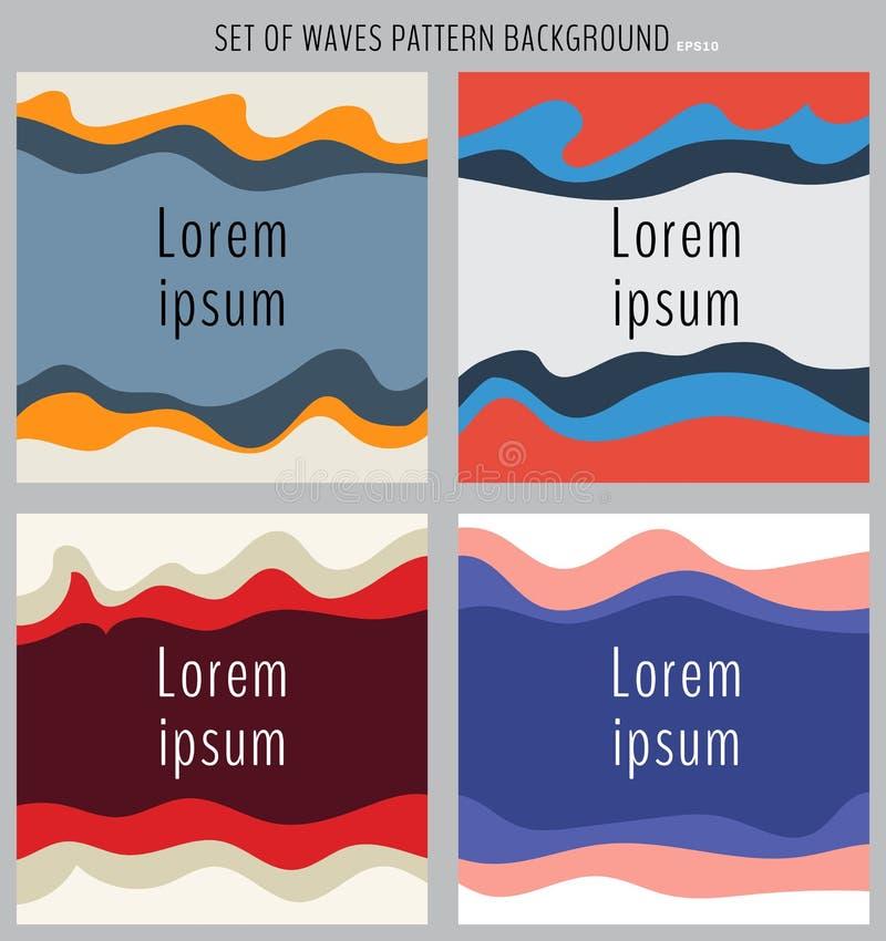 Fije de fondo multicolor del elemento del diseño de la onda Web de la bandera de la plantilla, página web, folleto, aviador, tarj ilustración del vector