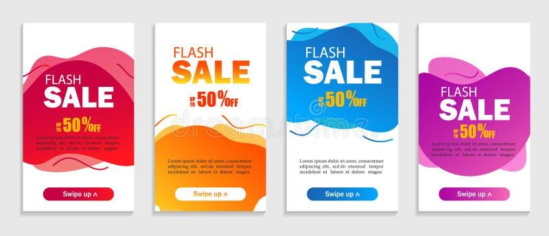 Fije de formas líquidas abstractas en fondo aislado El diseño de la venta cubre para la página web, la venta al por menor o el ne libre illustration