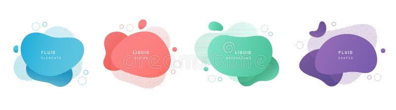 Fije de gota flúida verde, roja, violeta, azul aislada libre illustration