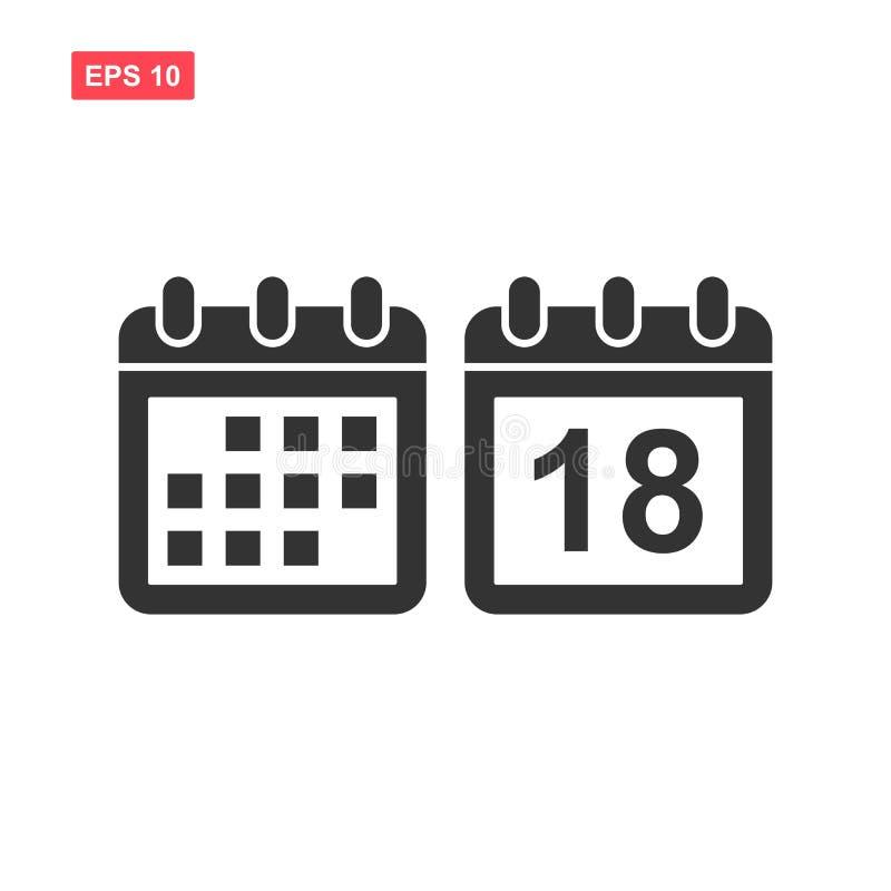 Fije de icono del vector del calendario aislado stock de ilustración