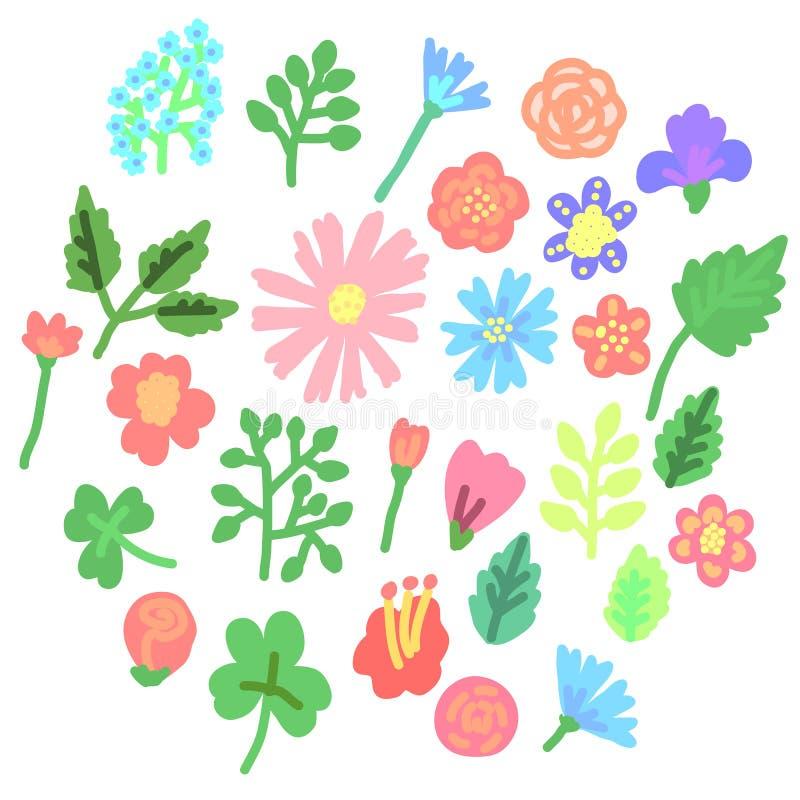 Fije de icono simple colorido de las flores Ilustración del vector libre illustration