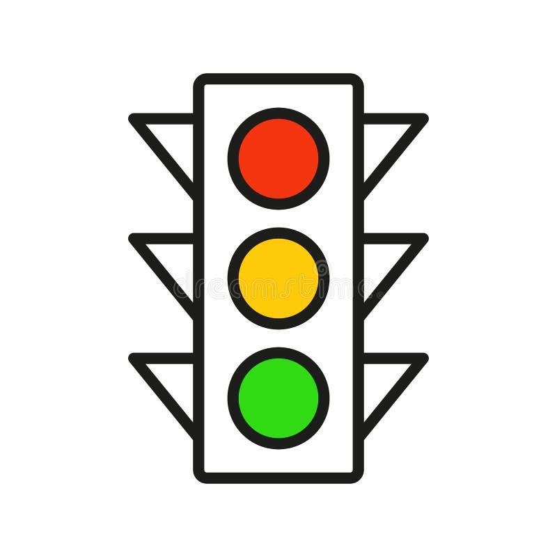 Fije de iconos del interfaz del semáforo libre illustration