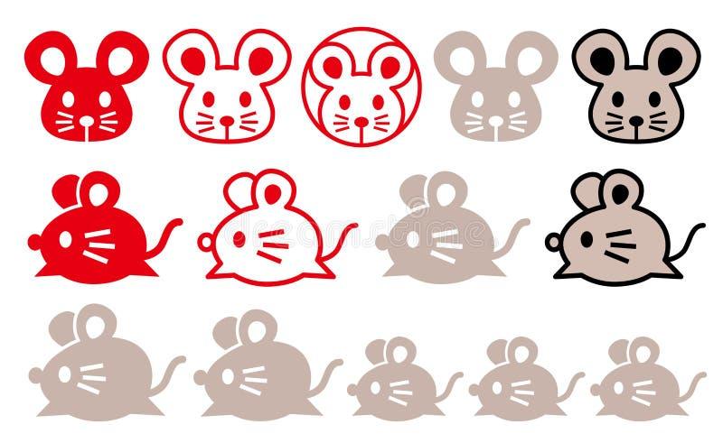 Fije de iconos del ratón Graphhics del vector ilustración del vector