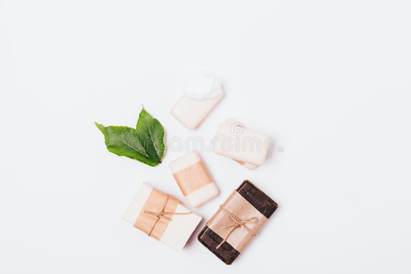 Fije de jabones hechos a mano naturales imagen de archivo libre de regalías