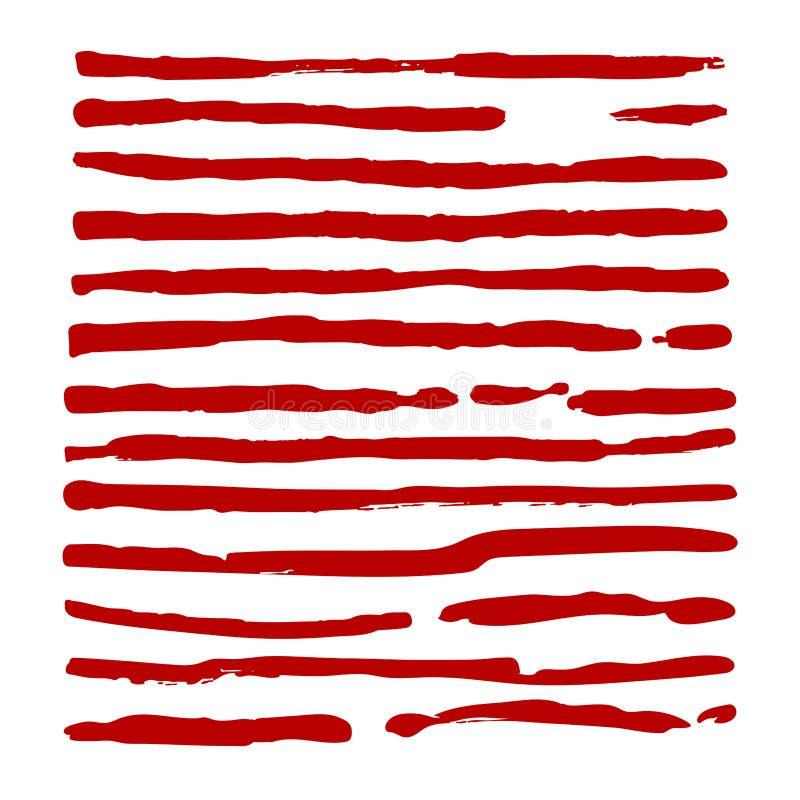 Fije de líneas en el fondo blanco libre illustration