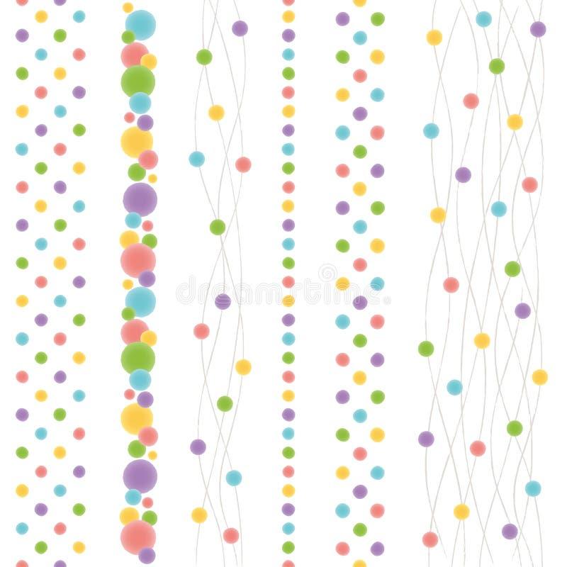 Fije de líneas japonesas del punto como una acuarela Fije de líneas japonesas del punto como una acuarela stock de ilustración