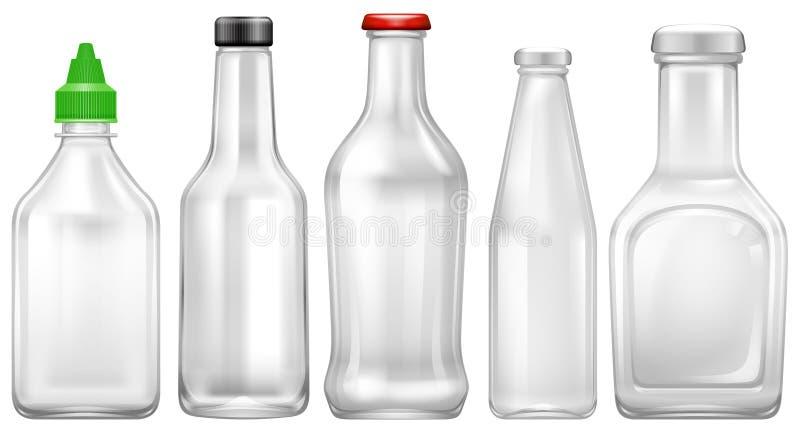 Fije de la botella transparente libre illustration