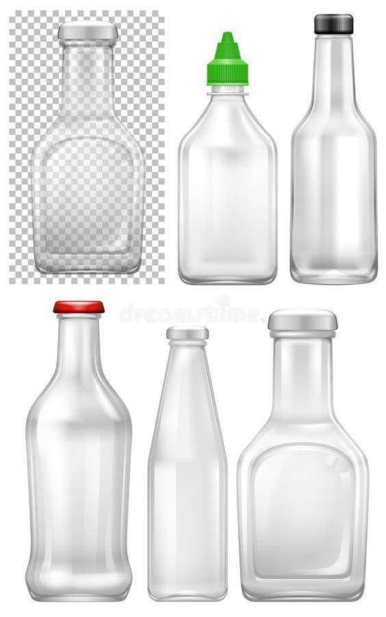 Fije de la botella vacía ilustración del vector