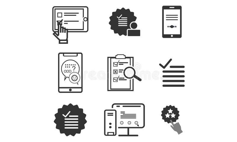 Fije de la encuesta, logotipo del icono de la lista de verificación libre illustration