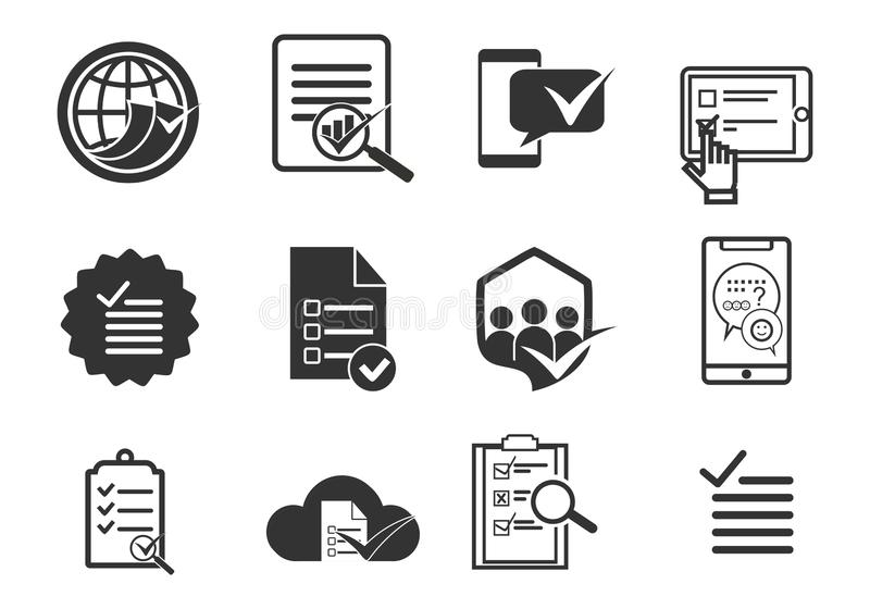 Fije de la encuesta, logotipo del icono de la lista de verificaci?n libre illustration