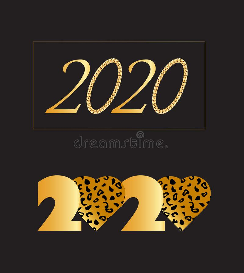 Fije de la Feliz Año Nuevo 202 ilustración del vector