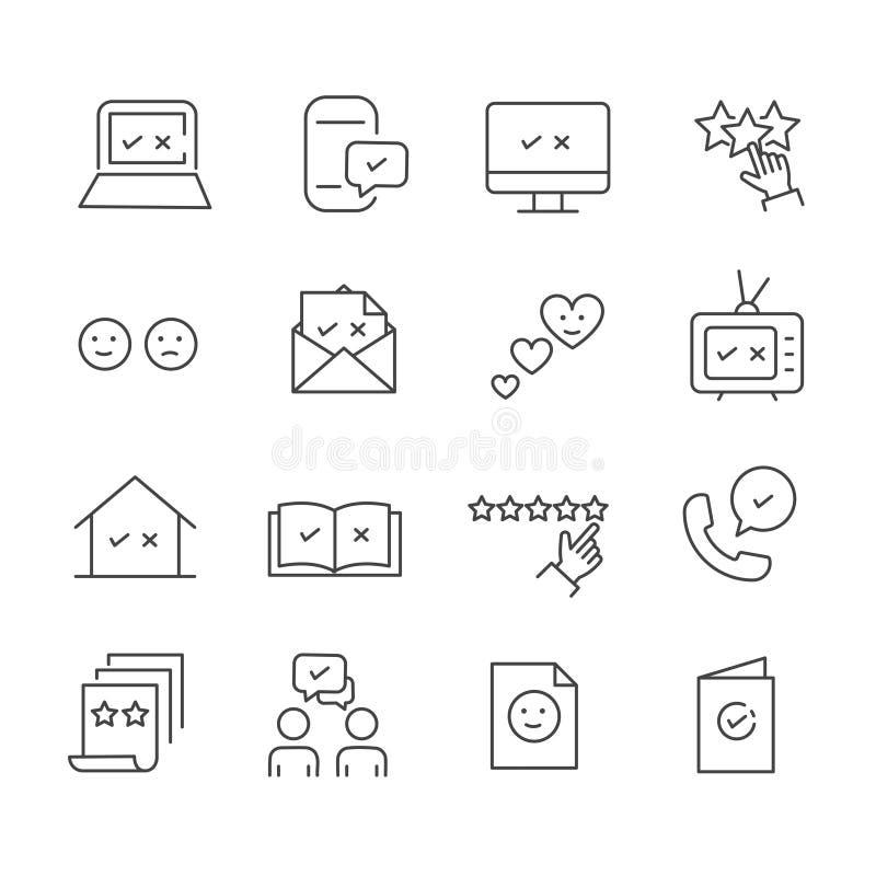 Fije de la reacción, icono de la satisfacción Símbolo del esquema aislado en el fondo blanco libre illustration