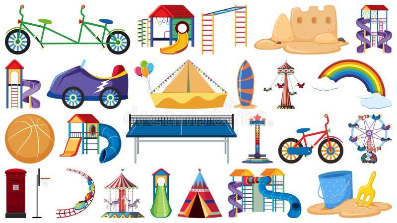 Fije de las herramientas del patio libre illustration