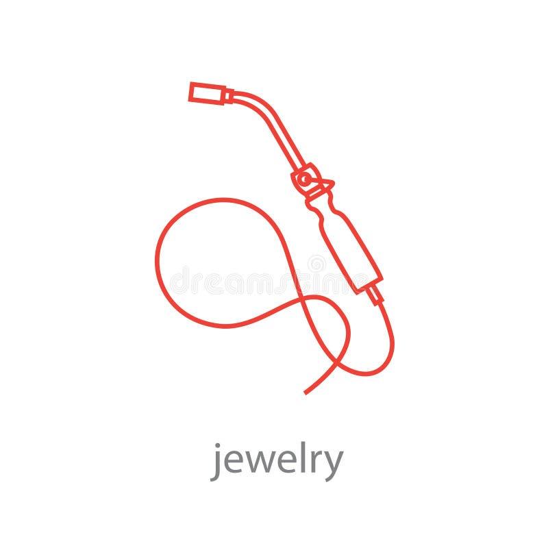 Fije de las herramientas profesionales del joyero y de joyero de trabajo de las etapas libre illustration