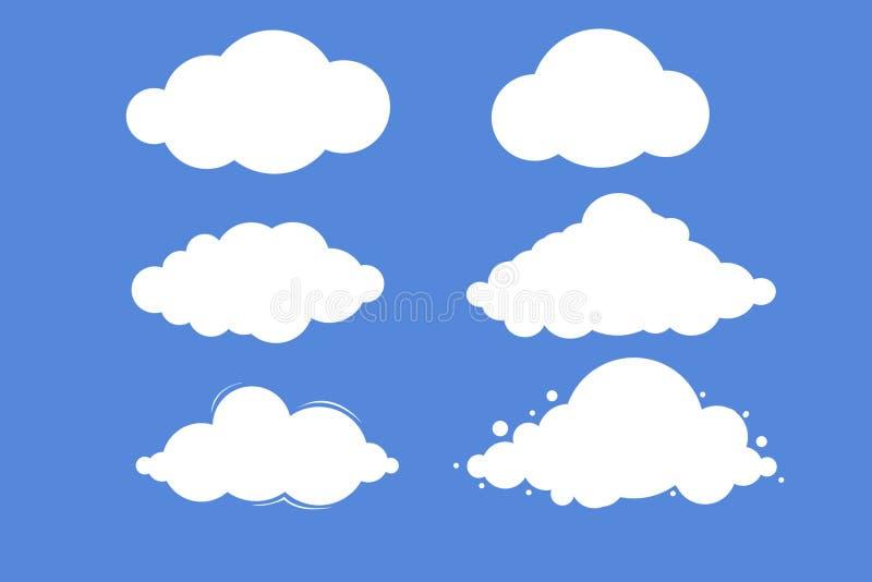 Fije de las nubes blancas en fondo azul fotos de archivo libres de regalías