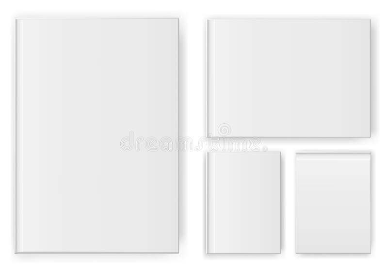 Fije de las plantillas en blanco de los álbumes en el fondo blanco Ilustración del vector stock de ilustración