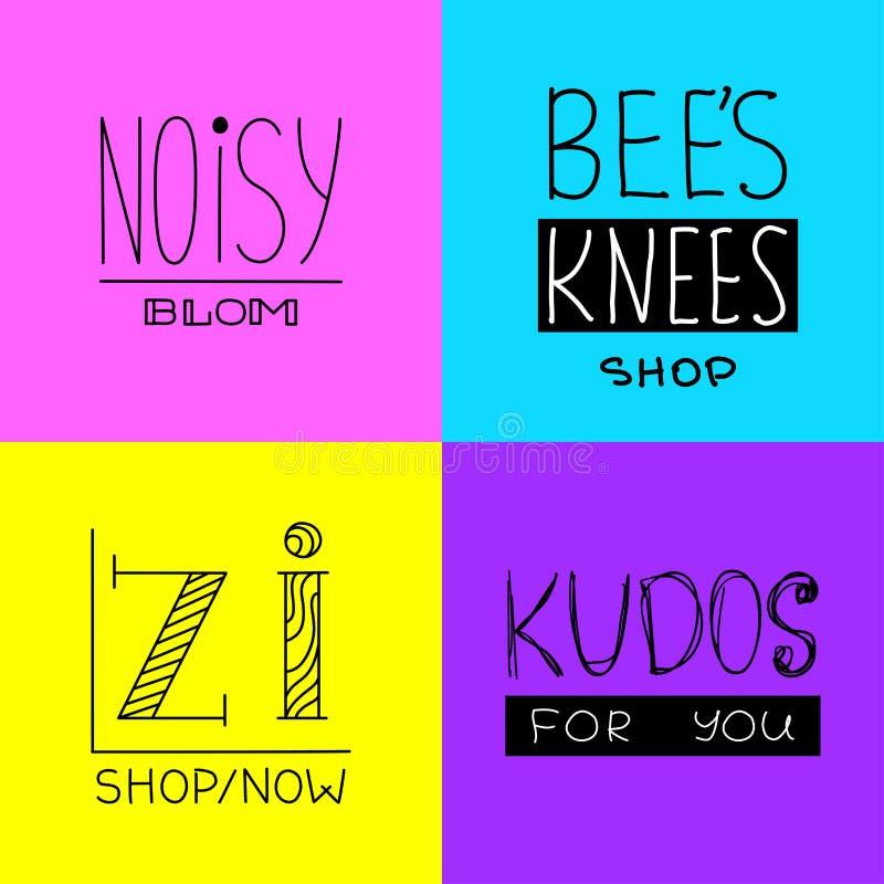 Fije de logotipos minimalistic ilustración del vector