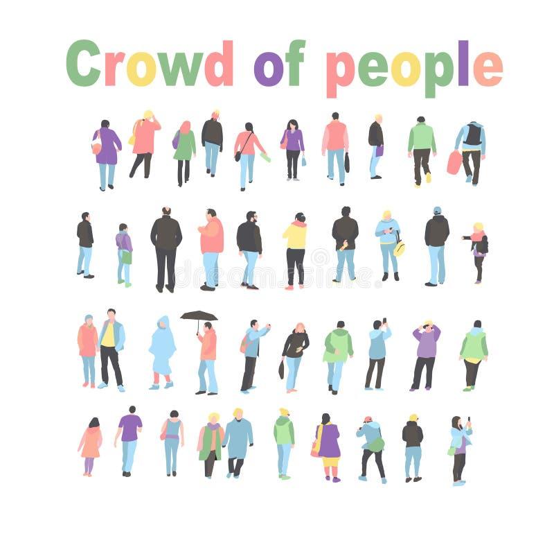 Fije de los caracteres de la gente que realizan diversas actividades Grupo de personajes de dibujos animados planos del estilo de ilustración del vector
