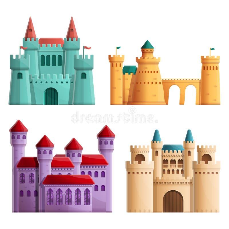 Fije de los castillos hermosos de las historietas, ejemplo del vector libre illustration
