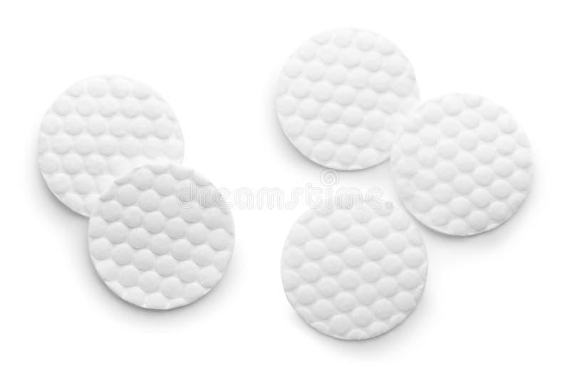 Fije de los cojines de algodón en la visión blanca, superior fotos de archivo libres de regalías