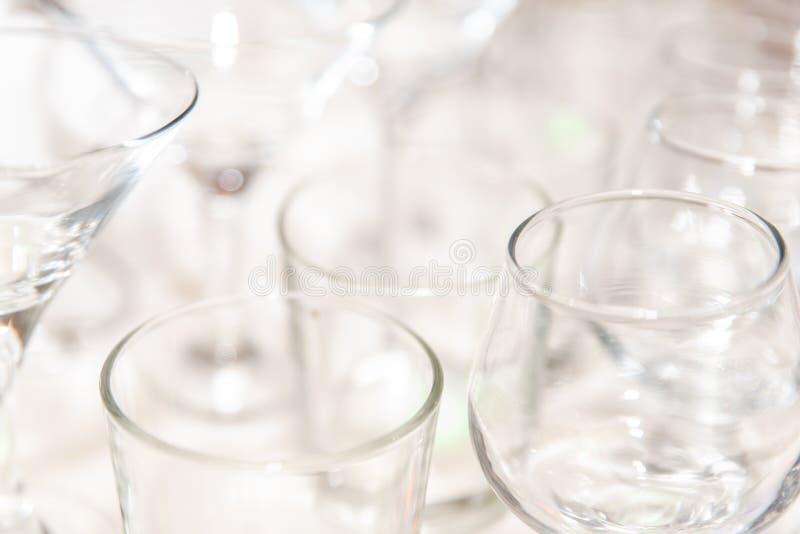 Fije de los cristales vacíos de la variedad, primer fotografía de archivo