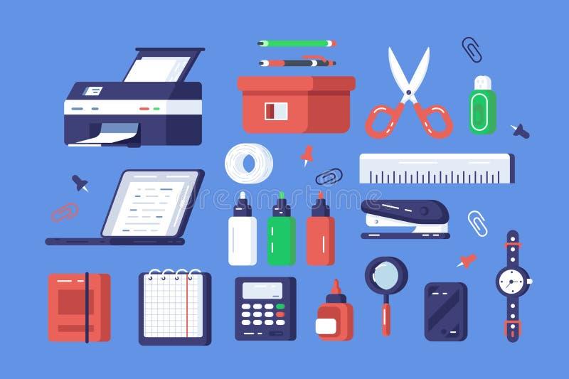 Fije de los diversos efectos de escritorio ilustración del vector