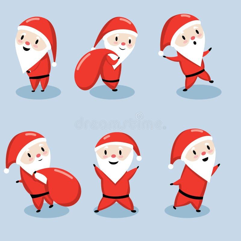 Fije de los ejemplos de Santa Claus del vector libre illustration