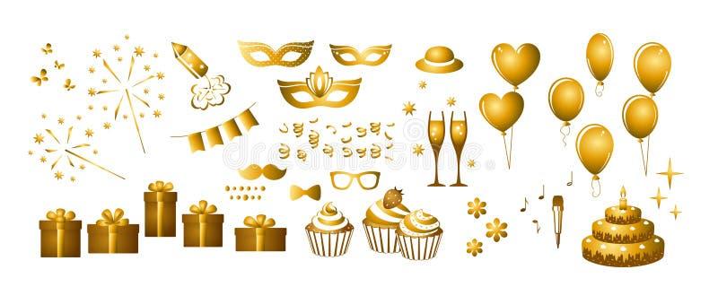 Fije de los elementos para su diseño - días de fiesta ilustración del vector